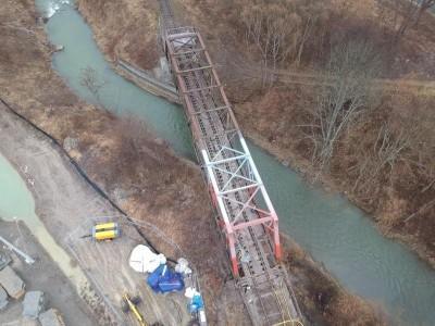 most przez rzeke